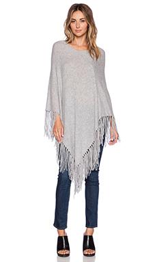 360 Sweater Blanca Poncho in Heather Grey