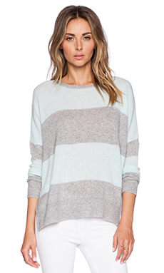 360 Sweater Skylar Sweater in Heather Grey & Spearmint