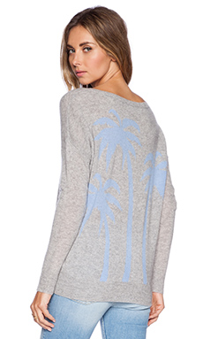 360 Sweater Pyper Sweater in Heather Grey & Capri Blue