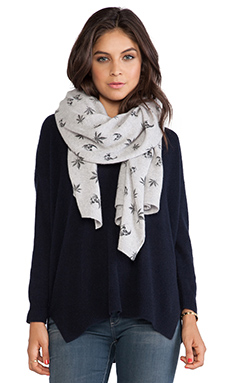 360 Sweater Herb Scarf in Powder Grey & Black