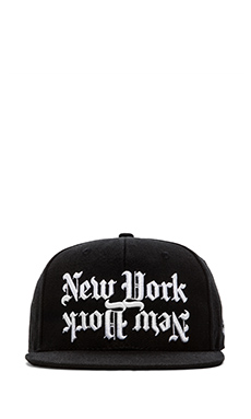40 OZ NY Dishonor Snapback in Black