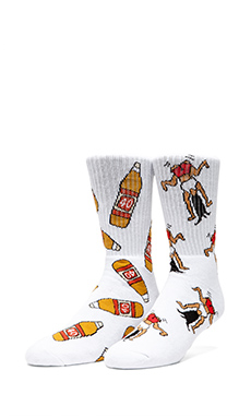 40's & Shorties 40's Original Socks in White, Twerk Original Socks in White