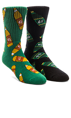 40's & Shorties Green 40's & 40's Original Socks in Black & Forest