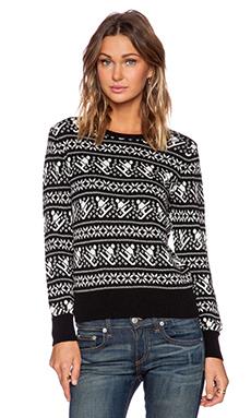 525 america Crop Crew Skier Sweater in Black Combo