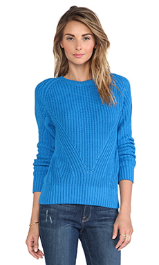 525 america Rip Sweater in Diva Blue