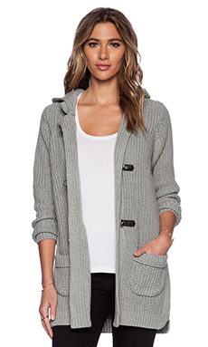 525 america Duffle Sweater Coat in Heather Grey