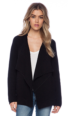 525 america Envelope Cardigan in Black