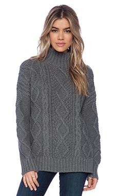 525 america Cable Sweater in Dark Grey
