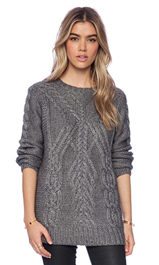 525 america Traveling Sweater in Heather Grey