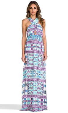 6 SHORE ROAD Drummer's Embroidered Maxi Dress in Tumba Geo