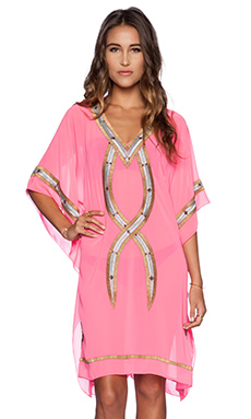 6 SHORE ROAD Beaded Kuna Caftan in Martini Pink