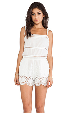 6 SHORE ROAD First Crush Romper in Mineral