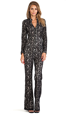 6 SHORE ROAD Sanctuary Lace Jumpsuit in Black Lace