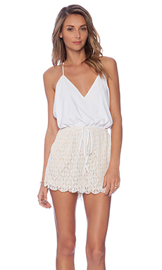 6 SHORE ROAD Malay Lace Romper in Moonlight