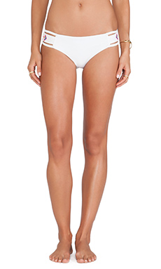 6 SHORE ROAD Embroidered Cabana Bikini Bottom in White