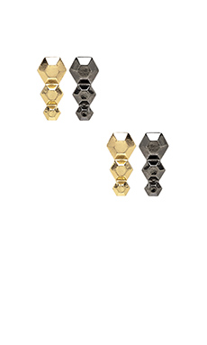 8 Other Reasons 8 Degrees Earrings in Gold