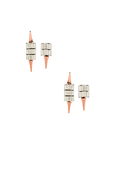 8 Other Reasons Vice Versa Earrings in Rhodium/Rose Gold
