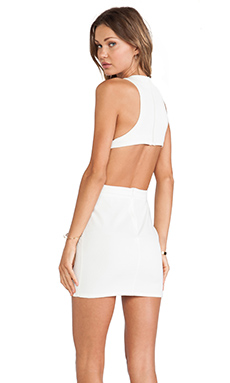 Assali Rake Mini Dress in Winter White