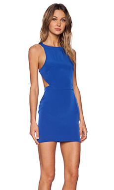 Assali Rake Mini Dress in Cobalt