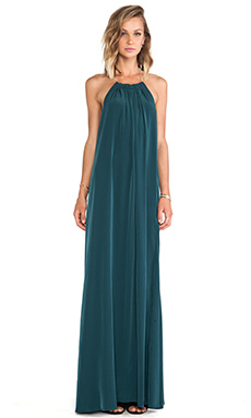 Assali Borgia Dress in Forest Green