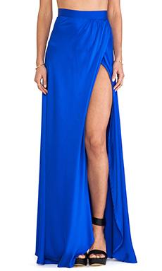 Assali Caila Envelope Skirt in Cobalt Blue