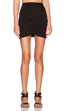 Assali The Still Mini Skirt in Black