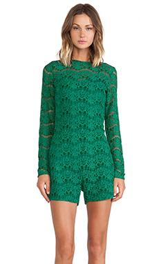 Assali Colarin Lace Jumpsuit in Gem Green