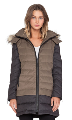 AB Robin Parka With Faux Fur trim in Olive & Grey