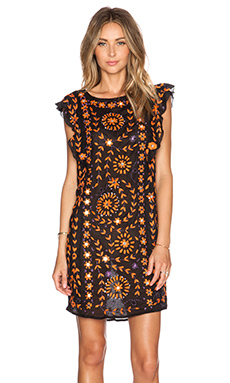 Antik Batik Barbade Embellished Dress in Black