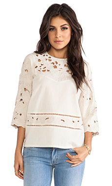 Antik Batik Dolores Blouse in Cream