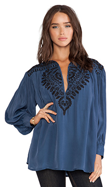 Antik Batik Isis Blouse in Blue