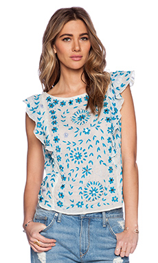 Antik Batik Barbade Embellished Top in White
