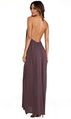 Acacia Swimwear Positano Maxi Dress in Fig