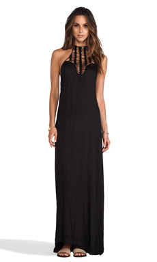Acacia Swimwear Positano Crochet Maxi Dress in Storm