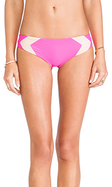 Acacia Swimwear Mentawai Bottom in Guava Pop & Naked