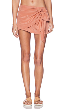 Acacia Swimwear Wailea Wrap Skirt in Papaya