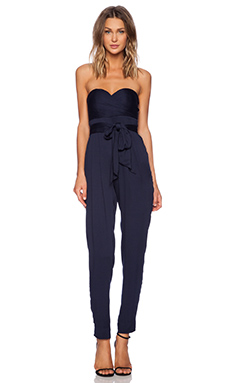YFB Clothing Sweetheart Jumpsuit in Navy