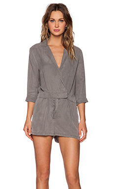 YFB CLOTHING Shelby Romper in Charcoal