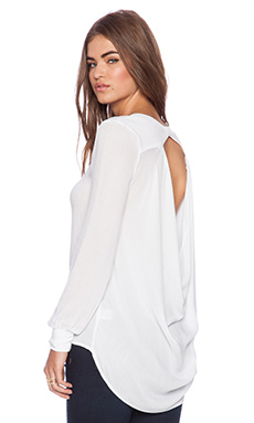 YFB Clothing Long Sleeve Top in White