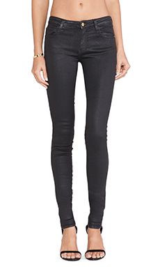 Acquaverde Blake Coated Skinny in Black