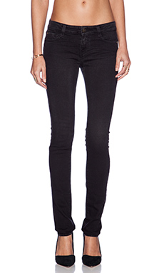 Acquaverde Alice Skinny in Hand Brushed Black Plis Fours