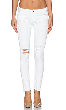 Acquaverde Scarlett Skinny in Destroy White Raw Edge