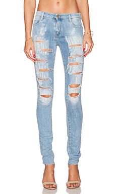 Acquaverde Blake Skinny in Ripped Light Used
