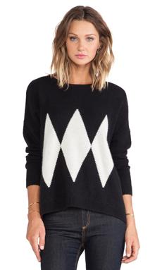 Acquaverde Pullover Sweater in Black & Off White