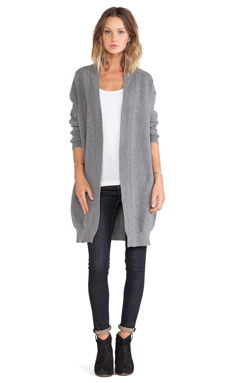 Acquaverde Cardigan in Heather Grey