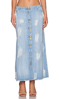 Acquaverde Hayley Maxi Skirt in Light Used Destroy