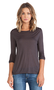 Acquaverde Long Sleeve Tee in Charcoal