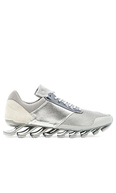 adidas by Rick Owens Springblade Low in Silver Met Silver Met Silver Met