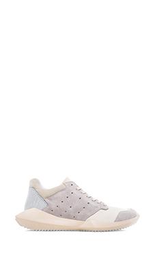 adidas by Rick Owens Tech Runner in White &  Chalk &  Light Bone