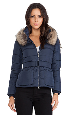 ADD Down Jacket with Fur Collar in Eclipse